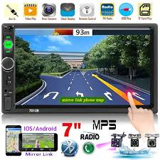 "7"" Double Din Bluetooth Car Radio HD <b>Touch Screen Car MP5</b> ..."