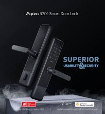 New <b>Aqara N200 Smart Door</b> Lock Fingerprint Bluetooth Password ...