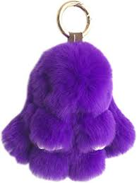 <b>15CM Fur Bunny Keychain</b> Real <b>Rabbit Fur Key Chain</b> Womens Bag ...