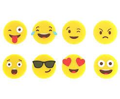 Набор из 8 <b>маркеров для бокалов Emoji</b> от Balvi жёлтый, силикон ...