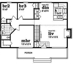 House plans  Square feet and Home plans on PinterestHome Plans HOMEPW   Square Feet  Bedroom Bathroom Country Home