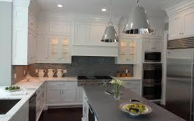 glass countertops kitchen transitional
