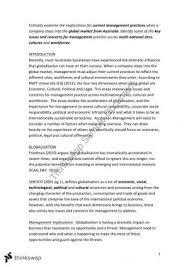 globalisation essaybusm   introduction to management   thinkswap globalisation essay   assignment