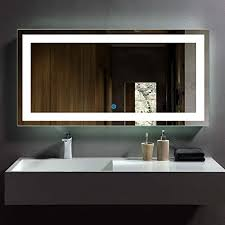 DP Home <b>LED</b> Lighted Rectangle <b>Bathroom Mirror</b>, Modern <b>Wall</b> ...