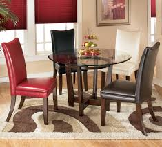 round glass dining table set for 4 signature design by ashley charrell piece round dining table set with