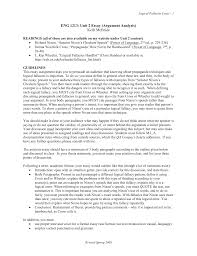 unit two essay handout argument analysis