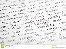 corrected essay stock image   image  corrected essay