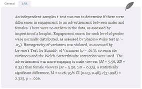 Learn how to accurately interpret and report your results  Laerd Statistics