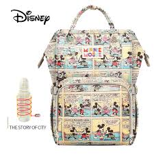 <b>Disney Large</b> Capacity <b>USB</b> Waterproof Diaper <b>Bags</b> Oxford Cloth ...