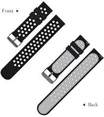 <b>22mm</b> Universal Smart Watch Bands, FanTEK Soft <b>Silicone Sport</b> ...