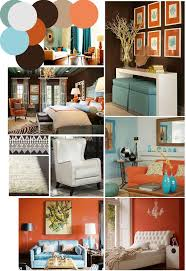 color palette inspo chocolate brown coral and robins egg blue blue orange brown living roomcoral burnt orange living room furniture