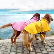 <b>Waterproof Dog Puppy Raincoat</b> Dog Reflector Hoodies Apparel ...