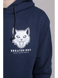 Худи <b>BREATHE OUT</b> - <b>Reaper</b> Cat <b>BREATHE OUT</b>. Цвет темно ...