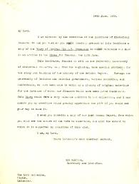 library institute of historical research letter dated 14 1929