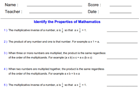 Understand properties of multiplication and the relationship ...Properties of Multiplication Worksheet