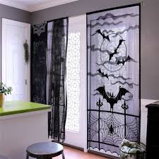 Black <b>Lace Bat Halloween</b> Props Party Scary Indoor Decorations ...