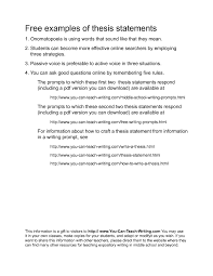 example of a good thesis statement for an essay Resume Examples Example Thesis Statement Essay research essay thesis
