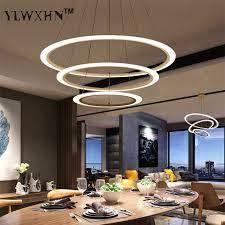 2017 Suspension Luminaire <b>Modern Led Circle Ring</b> Chandelier ...
