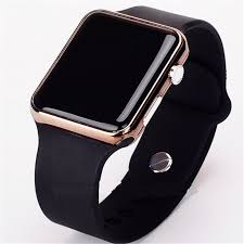 2017 new hot Square Mirror Face Silicone Band <b>Digital Watch</b> Red ...