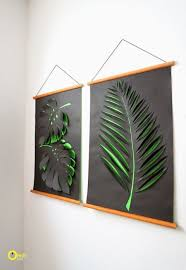 decorating ideas wall art decor: paper cut outs gallery  diy wallart leave