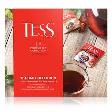 <b>Набор</b> чая TESS <b>12</b> видов, пакетированный, 60 пак/уп — купить в ...
