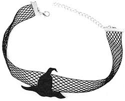 Halloween Spider Necklace Black Net Lace Choker ... - Amazon.com
