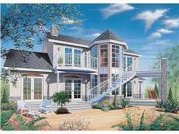 Plan H    Find Unique House Plans  Home Plans and Floor    Waterfront Home  Rear  H