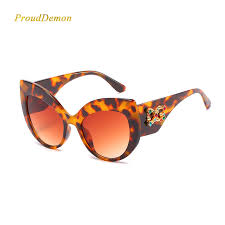 2019 New Diamond <b>Elegant</b> Cat eye Sunglasses <b>Women</b> Men High ...