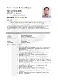 doc mechanical engineer professional resume samples resume samples for freshers mechanical engineers
