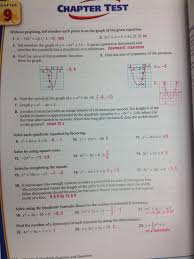 Glencoe Algebra   Chapter   Practice Test Answers   mcdougal     lbartman com