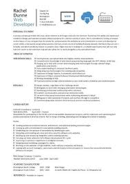 web designer cv sample  example  job description  career history    web developer resume