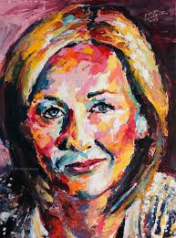 j k rowling original oil painting creative acrylics and thoughts j k rowling original fine art oil painting by artist derek russell