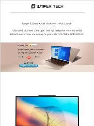 Shenzhen Jumper Technology Co.,LTD: <b>Jumper EZbook X3 Air</b> ...