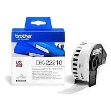Белая бумажная <b>клеящаяся лента Brother</b> DK22210 ширина 29 ...