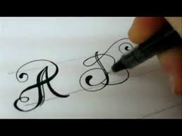 Image result for fancy calligraphy alphabet styles from a to z