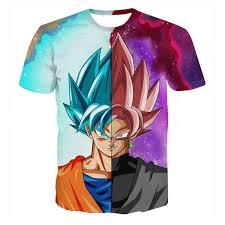 Dragon Ball Z T shirts Mens Summer 3D <b>Printing Super</b> Saiyan Son ...