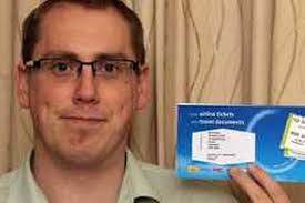 Richard Pickles of Crewe with the tickets from his nightmare holiday to Turkey. - richard-pickles-of-crewe-with-the-tickets-from-his-nightmare-holiday-to-turkey-93288536-5589397