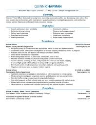 best police officer resume example livecareer create my resume
