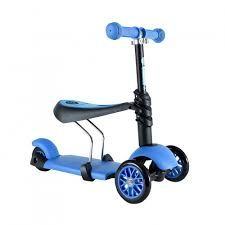 <b>Самокат</b> Yvolution <b>Glider</b> Seat <b>3 в</b> 1, синий — купить в интернет ...