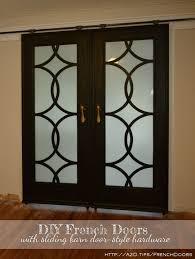 my finished sliding barn door style french doors barn style sliding doors