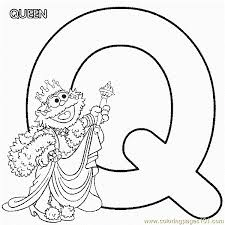 Small Picture Abc Letter Q Queen Sesame Street Zoe Coloring Pages 7 Com Coloring