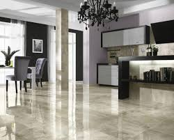 Gray Tile Kitchen Floor Glossy Marble Ceramic Tile Floor Ideas For Modern Living Room
