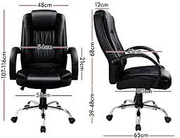 ALFORDSON <b>Executive</b> PU Leather <b>Office Chair</b> Computer Gaming ...