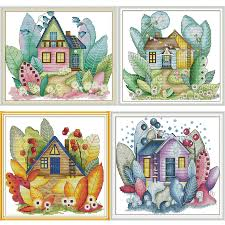 <b>Joy Sunday</b> Four Seasons Magic Cottage Pattern <b>DIY</b> Hand Cross ...