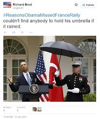 Top 11 Twitter Memes BLASTING President Barack Obama's Absence At ... via Relatably.com