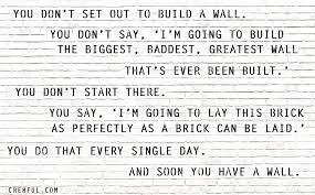 you dont set out to build a wall build wall