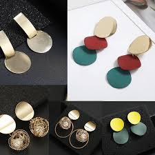 Japanese and Korean Autumn and Winter New Earrings Geometric ...