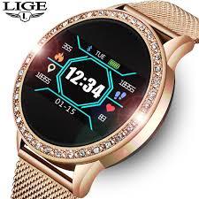 Buy <b>LIGE Ladies Smart Watch</b> Women Blood Pressure Heart Rate ...
