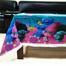 <b>108cm*180cm Trolls</b> Table Cloth Kids Happy <b>Birthday Trolls</b> ...
