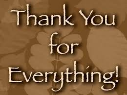 Image result for thanks for everything